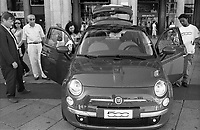 Milano, esposizione in piazza Duomo della nuova FIAT 500 --- Milan, exposition in Duomo square of the new FIAT 500