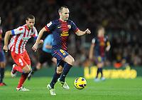 Andres Iniesta ( FC Barcelone ) .Football Calcio 2012/2013.La Liga Spagna.Foto Panoramic / Insidefoto .ITALY ONLY