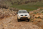 The Golan Heights. Dirt road in Mann valley at the Hermon