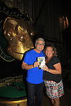 "Guiding Light and One Life To Live Kim Zimmer and singer John Davidson and OZ star in the National Tour of Wicked on July 31, 2013 at the Kimmel Center for the Performing Arts in Philadelphia, Pennsylvania. Kim has been on tour for probably a year as ""Madame Morrible"" and John Davidson as ""The Wonderful Wizard of Oz"". (Photo by Sue Coflin/Max Photos)"