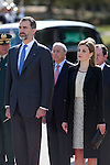 Spanish Royals King Felipe VI of Spain and Queen Letizia of Spain during the Colombia´s President Juan Manuel Santos and his wife Maria Clemencia Rodriguez welcome ceremony at the Pardo Palace in Madrid, Spain. March 01, 2015. (ALTERPHOTOS/Victor Blanco)