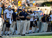 SEPTEMBER 10 2011:  California Golden Bears head coach Jeff Tedford  during a non-conference game with two PAC 12 teams between the California Golden Bears and the University of Colorado Buffaloes at Folsom Field in Boulder, Colorado. The Golden Bears beat the Buffaloes 36-33 in overtime.  *****For editorial use only*****