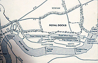 London: Docklands Map--Detail 3.   Reference only.