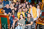 Julie O'Connell seated front centre from Toormore, Cahersiveen celebrated her 21st birthday with family and friends in Craineen's Bar Cahersiveen on Saturday night.