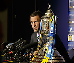Ronny Deila at Hampden on Scottish Cup media duties