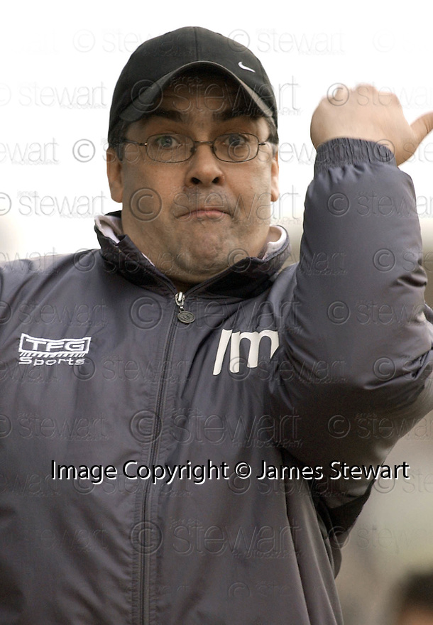 05/02/2005  Copyright Pic : James Stewart.File Name : jspa31_qots_v_dundee_utd.DUNDEE UTD MANAGER IAN MCCALL DURING THE SCOTTISH CUP 4TH ROUND CLASH AGAINST QUEEN OF THE SOUTH...Payments to :.James Stewart Photo Agency 19 Carronlea Drive, Falkirk. FK2 8DN      Vat Reg No. 607 6932 25.Office     : +44 (0)1324 570906     .Mobile   : +44 (0)7721 416997.Fax         : +44 (0)1324 570906.E-mail  :  jim@jspa.co.uk.If you require further information then contact Jim Stewart on any of the numbers above.........A