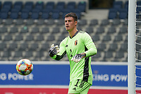 Belgian goalkeeper Mile Svilar (1) throws the ball during a soccer game between the national teams Under21 Youth teams of Belgium and Germany on the 5th matday in group 9 for the qualification for the Under 21 EURO 2021 , on tuesday 8 th of September 2020  in Leuven , Belgium . PHOTO SPORTPIX.BE | SPP | SEVIL OKTEM