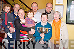 Pictured at the launch of the Mike Landers Cup doubles Darts Tournament in Murphys Bar, Killarney on Monday night were Denis and Craig Brosnan, Sarah Landers, Anthony Cahill, Sean Murphy, Connor Landers, Roland Sauter and Mary Carmel O'Connor...