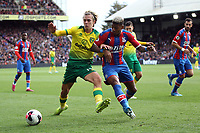 Todd Cantwell of Norwich City takes on Patrick van Aanholt of Crystal Palace during the Premier League match between Crystal Palace and Norwich City at Selhurst Park on September 28th 2019 in London, England. (Photo by Mick Kearns/phcimages.com)<br /> Foto PHC/Insidefoto <br /> ITALY ONLY