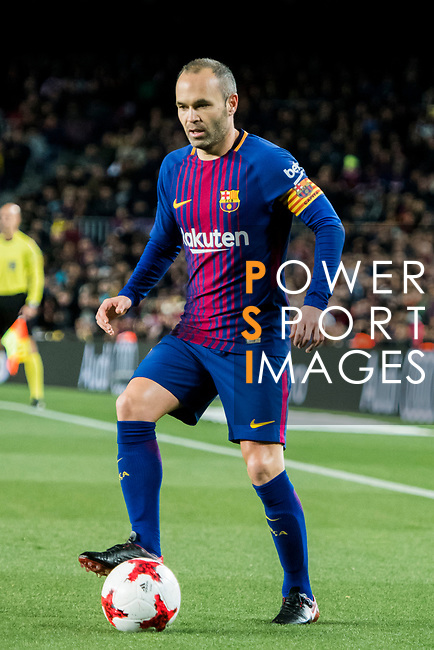 Andres Iniesta Lujan of FC Barcelona in action during the Copa Del Rey 2017-18 Round of 16 (2nd leg) match between FC Barcelona and RC Celta de Vigo at Camp Nou on 11 January 2018 in Barcelona, Spain. Photo by Vicens Gimenez / Power Sport Images