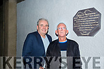New Christie Hennessy Plaque Marks His Birthplace At St John's Park. Pictured Frank Hartnett and Cllr Sam Locke
