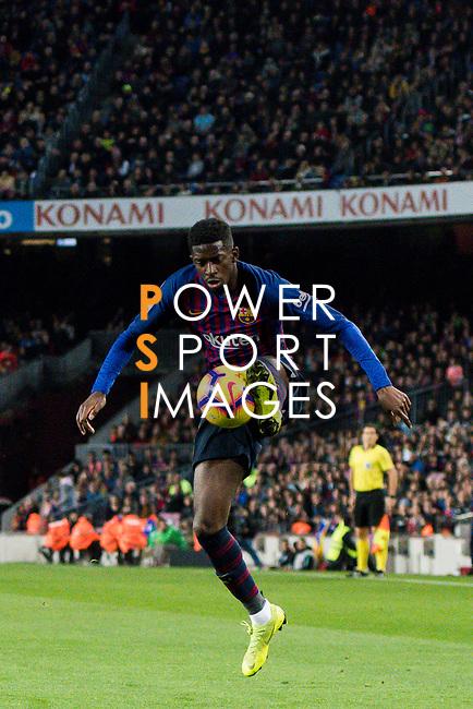Ousmane Dembele, O Dembele, of FC Barcelona in action during the La Liga 2018-19 match between FC Barcelona and RC Celta de Vigo at Camp Nou on 22 December 2018 in Barcelona, Spain. Photo by Vicens Gimenez / Power Sport Images