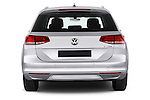 Straight rear view of a 2015 Volkswagen Passat Comfort 5 Door Wagon Rear View  stock images