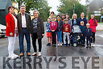 Residents in Ballyfinnane are pleading with Kerry County Council to undertake safety works at the crossroads in the village before someone is killed. <br /> Front left to right Vera Quirke, Cllr Mike O'Shea and Siobhan Driver. <br /> Middle left to right Ruairi MacEntee, Katie Keenan, Anna Dennehy, Luke Quirke, Marek Modrzewski, EBack left to right Adah Mac Entee, Rachel Quirke, Holly MacEntee, Mary Dennehy and Emilia and Tomasz Modrzewski.