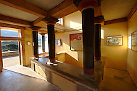 Arthur Evans reconstruction of the the so-called Court of the Stone Spout, Knossos Minoan archaeological site