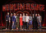 "Director Alex Timbers; cast members Tam Mutu, Danny Burstein, Karen Olivo, Robyn Hurder, Aaron Tveit, Ricky Rojas, and Sahr Ngaujah; choreographer Sonya Tayeh; book writer John Logan, and music supervisor Justin Levine from ""Moulin Rouge!"" The Broadway Musical at the Al Hirschfeld Theatre on July 9, 2019 in New York City."