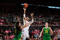 STANFORD, CA - February 10, 2019: The Stanford Cardinal falls to the Oregon Ducks 88-48 at Maples Pavilion.