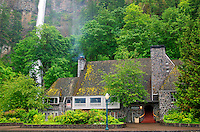 The Multnomah Falls Lodge and U.S. Forest Service Information Center at the Multnomah Falls, Columbia River Gorge National Scenic Area, Oregon