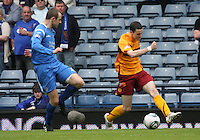 Jamie Murphy crossing the ball over