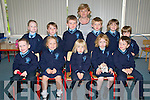Knockanure National School : Junior infants on their first day at school...Front : Cian Halton, Clodagh Donegan-Ward, Caoimhe O'Sullivan, Kelly Enright & Fionn Stack. Back : Aoife Walsh, Ben Sweeney, AAron White, Ethan Benham, Harry O'Connor & Aaron Flavin. Treaher Breda Kiely.