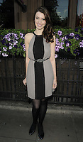 Lucy Drive.attended the Kensington Club new boutique nightclub launch party, The Kensington Club, High Street Kensington, London, England,.20th July 2012..full length grey gray lack dress belt sleeveless tights .CAP/CAN.©Can Nguyen/Capital Pictures.