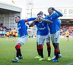 15.12.2019 Motherwell v Rangers: Alfredo Morelos celebrates