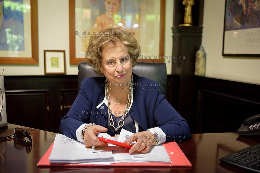 Maria Falcone nel suo studio nella sede della fondazione intestata a Giovanni Falcone a Palermo.<br /> Palermo: Maria Falcone sister of Giovanni in the Giovanni Falcone foundation