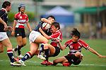 Hong Kong ladies play Japan in their Asia 5 Nations tournament match held at the Hong Kong Football Club on 30 April 2011.  Photo © Raf Sanchez / HKRFU