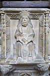 Early fifteenth century baptismal font, Church of Saint Bartholomew, Orford, Suffolk, Suffolk, England, UK