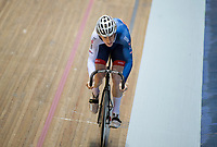 Picture by Allan McKenzie/SWpix.com - 06/01/2018 - Track Cycling - Revolution Champion Series 2017 - Round 3 - HSBC UK National Cycling Centre, Manchester, England - Hamish Turnbull competes in the 200m time trial sprint, HSBC UK, Kalas, branding.