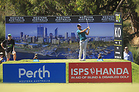 Lucas Herbert (AUS) in action on the 6th during the Matchplay Semi-Final of the ISPS Handa World Super 6 Perth at Lake Karrinyup Country Club on the Sunday 11th February 2018.<br /> Picture:  Thos Caffrey / www.golffile.ie<br /> <br /> All photo usage must carry mandatory copyright credit (&copy; Golffile | Thos Caffrey)