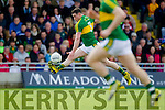 Mark Griffin Kerry in action against  Cork in the National Football league in Austin Stack Park, Tralee on Sunday.