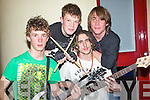 "MUSIC: Dingle group ""O.D. BITES"" who entered the heats of the Battle of the Bands in the KDYS Denny Street, TRalee on FRiday night, Gus Knight, Oisin O Hewarta?in, Cian Vernet and Dibi O BRiain."