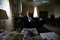 TO GO WITH AIDA EDEMARIAM SATURDAY FEATURE : Northern Ireland's Deputy First Minister Martin McGuinness in his offices at Stormont Castle, Belfast, Northern Ireland, Wednesday 7 Oct, 2009. Photo/Paul McErlane