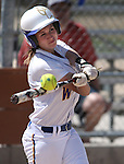 Western Nevada Wildcats' Makenzie Hospodka hits against North Idaho College at Edmonds Sports Complex, in Carson City, Nev., on Friday, April 18, 2014.<br /> Photo by Cathleen Allison/Nevada Photo Source