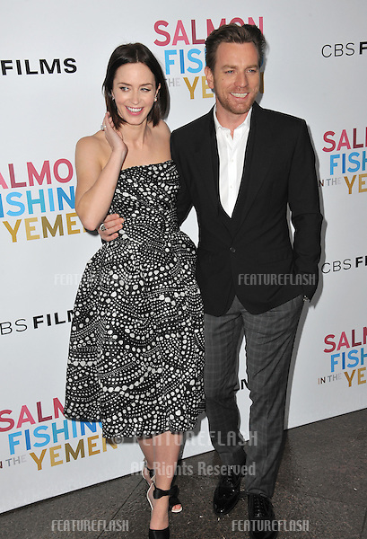 """Emily Blunt & Ewan McGregor at the US premiere of their new movie """"Salmon Fishing in the Yemen"""" at the Directors Guild Theatre, West Hollywood..March 5, 2012  Los Angeles, CA.Picture: Paul Smith / Featureflash"""