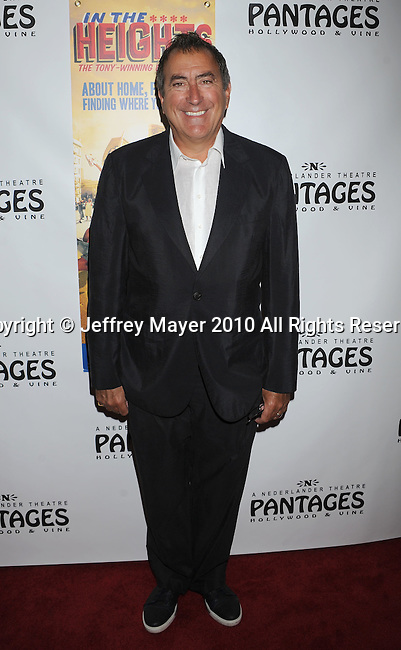 "HOLLYWOOD, CA. - June 23: Kenny Ortega arrives at Broadway LA Presents: ""In The Heights"" - Opening Night at the Pantages Theatre on June 23, 2010 in Hollywood, California.."