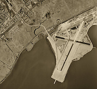 historical aerial photograph San Francisco International airport SFO 1946