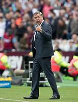 Everton manager Sam Allardyce during the Premier League match between West Ham United and Everton at the Olympic Park, London, England on 13 May 2018. Photo by Andy Rowland / PRiME Media Images.