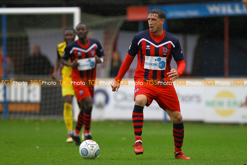 Michael Corcoran of Hampton & Richmond Borough during Hampton & Richmond Borough vs AFC Hornchurch, Emirates FA Cup Football at the Beveree Stadium on 6th October 2018