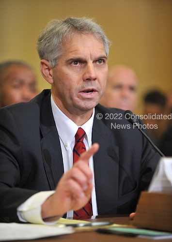 "Washington, D.C. - December 3, 2009 -- Mark J. Sullivan, Director, United States Secret Service, Department of Homeland Security testifies before the U.S. House Homeland Security Committee in Washington, D.C. on Thursday, December 3, 2009.  The theme of the hearing was ""The U.S. Secret Service and Presidential Protection: An Examination of a System Failure"".  The committee heard Sullivan's testimony concerning the security lapse at the White House that allowed Tariq and Michaele Salahi to attend the State Dinner in honor of Prime Minister Singh of India without having been invited.  .Credit: Ron Sachs / CNP.(RESTRICTION: NO New York or New Jersey Newspapers or newspapers within a 75 mile radius of New York City)"