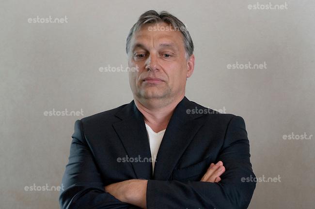 UNGARN, 06.2013. Budapest - V. Bezirk. Ministerpraesident Viktor Orb&aacute;n (Fidesz) im Hotel Marriott. | HUNGARY, 06.2013 Budapest - Prime minister Viktor Orban (Fidesz) in the Marriott hotel.  |  HONGRIE, 06.2013. Budapest - Premier ministre Viktor Orban (Fidesz) &agrave; l'hotel Marriott.<br /> &copy; Martin Fejer/EST&amp;OST