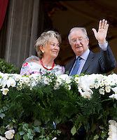 King Albert II of Belgium & Queen Paola , their last Royal public official visit - Belgium