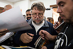 """Mexican director Guillermo del Toro signing to fans after press conference of presentation of film 'The Shape of Water"""" during Sitges Film Festival in Barcelona, Spain October 05, 2017. (ALTERPHOTOS/Borja B.Hojas)"""