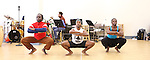 Gelan Lambert with ensemble rehearsing for the touring company of 'FELA!'  at the Pearl Studios in New York City on 1/23/2013