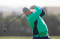 Caolan Rafferty from Ireland on the 12th tee after Round 1 Foursomes of the Men's Home Internationals 2018 at Conwy Golf Club, Conwy, Wales on Wednesday 12th September 2018.<br /> Picture: Thos Caffrey / Golffile<br /> <br /> All photo usage must carry mandatory copyright credit (© Golffile | Thos Caffrey)
