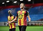 2018-08-27 / Voetbal / Seizoen 2018-2019 / KV Mechelen - Albert Quevy Mons /  Cl&eacute;ment Tainmont viert na de 1-0<br /> <br /> ,Foto: Mpics