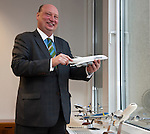 Brussels-Belgium - December 01, 2015 -- Henrik HOLOLEI, Director-General of DG MOVE (Mobility and Transport ), European Commission, during an interview in his office, with a small mockup of a Lufthansa Airbus A380 -- Photo: © HorstWagner.eu