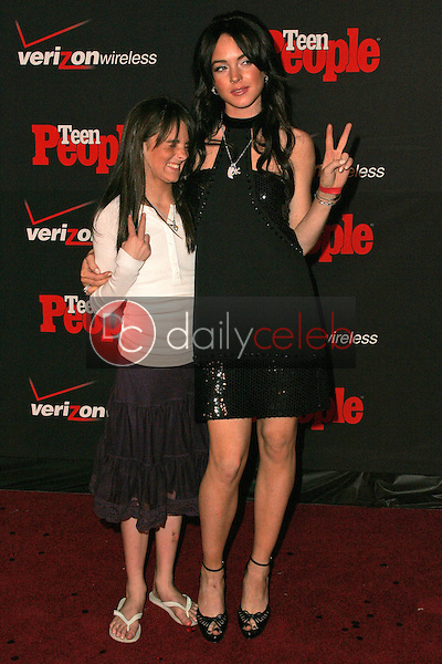 Lindsay Lohan and sister Aliana<br />