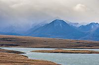 Island lake, Endicott Mountains, Brooks Range, Arctic, Alaska.